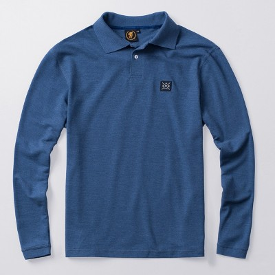 Longsleeve Polo Label Used Blue