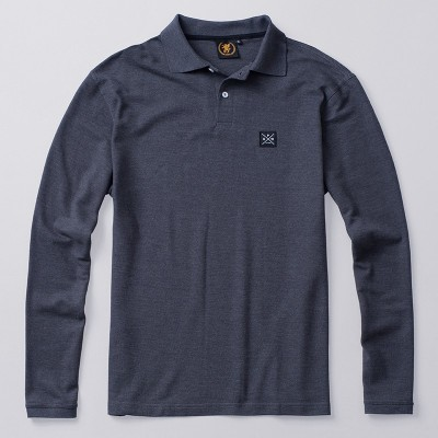 Longsleeve Polo Label Dark Grey