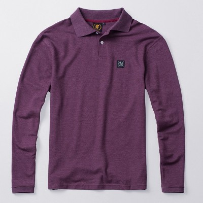 Longsleeve Polo Label Used Red