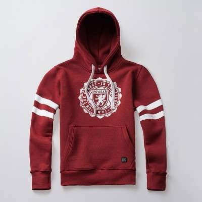 Kapuzenpullover College Red
