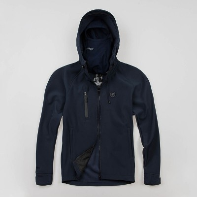 "Full Face Softshell jacket ""Aggressive"" Navy"