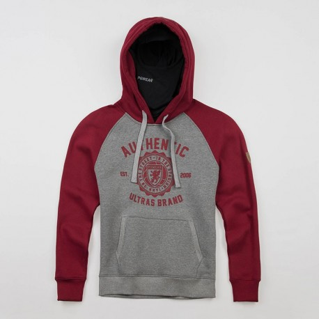 """Full Face Hoodie """"Authenthic Brand"""" Grey"""