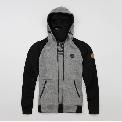 "Full Face Kapuzenpullover ""Chaos"" Grey"
