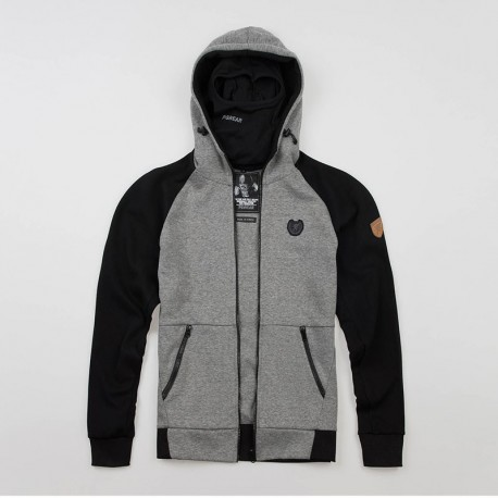 """Full Face Hoodie """"Chaos"""" Grey"""