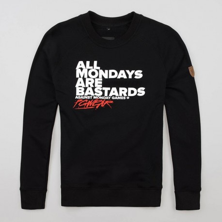 "Sweatshirt ""Hate Mondays"" Black"