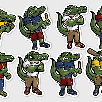 "Stickers Set ""Crocodiles"""