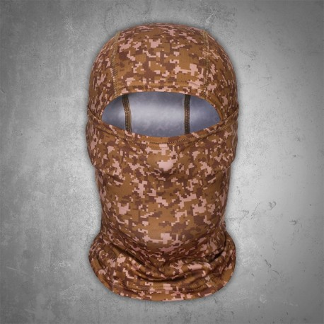PGwear Balaclava Camo Zipper Brown