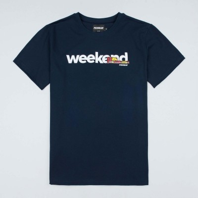"T-shirt ""Weekend"" Navy"