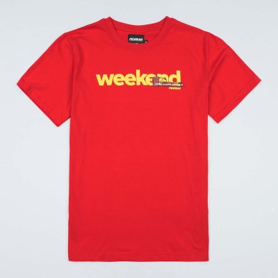 "T-shirt ""Weekend"" Red"