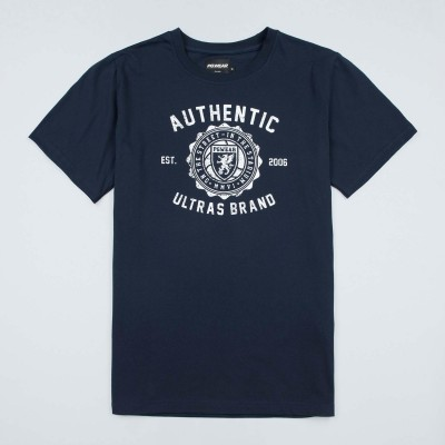 "T-shirt ""Authentic Brand"" Navy/White"