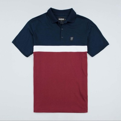 "Poloshirt ""Oldschool"" Navy/Red"