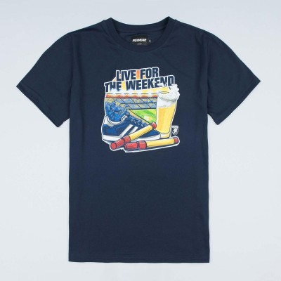 "T-shirt ""Live For the Weekend"" Navy"