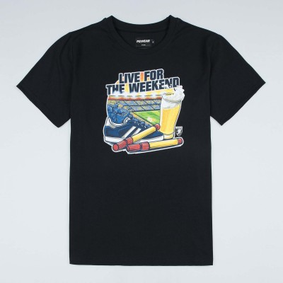 "T-shirt ""Live For the Weekend"" Black"