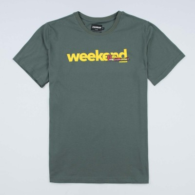 "T-shirt ""Weekend"" Olive"