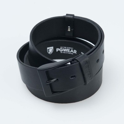 "Leather Belt ""CL"" Black"