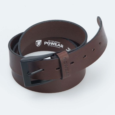 "Leather Belt ""CL"" Brown"