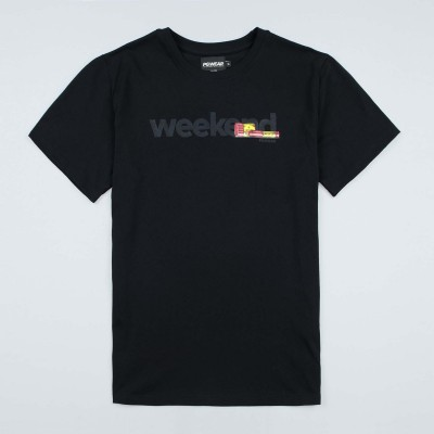 "T-shirt ""Weekend"" Black"