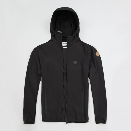 """Full Face Softshell Jacket """"Offensive"""" Black"""