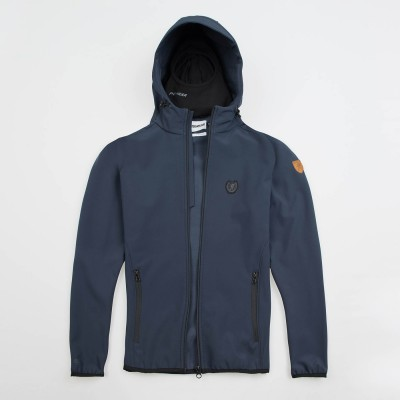 """Full Face Softshell Jacket """"Offensive"""" Navy"""