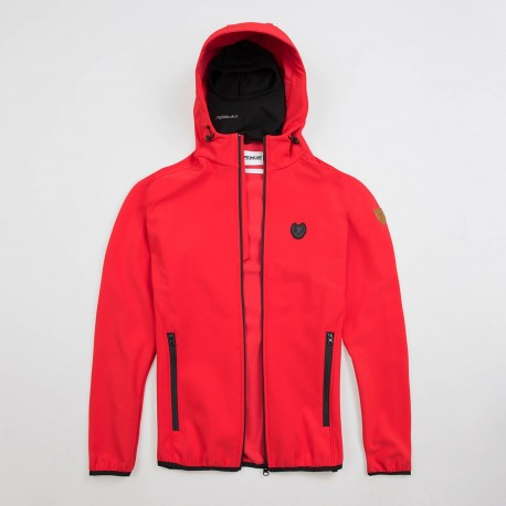 """Full Face Softshell Jacket """"Offensive"""" Red"""