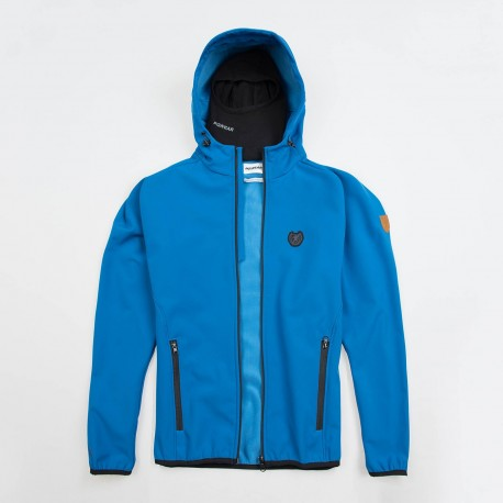 """Full Face Softshell Jacket """"Offensive"""" Blue"""