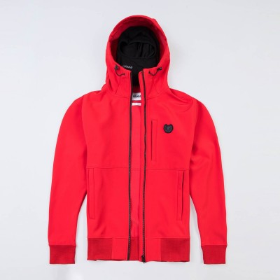 """Full Face Softshell Jacket """"Ghost"""" Red"""
