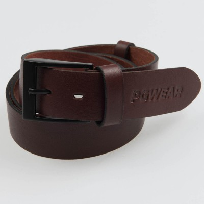 "Leather Belt ""Signature"" Brown"
