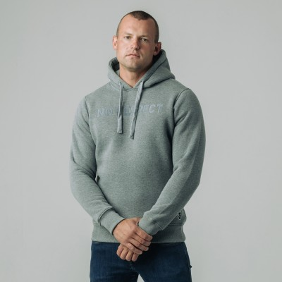 Hoodie NO RESPECT Craft Grey
