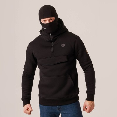 """Full Face Hoodie """"Armory"""" Black"""