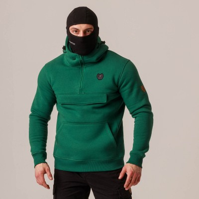 """Full Face Hoodie """"Armory"""" Green"""