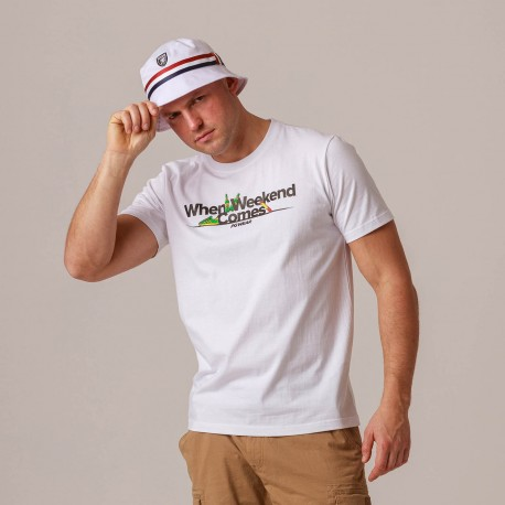 """T-shirt """"When Weekend Comes"""" White"""