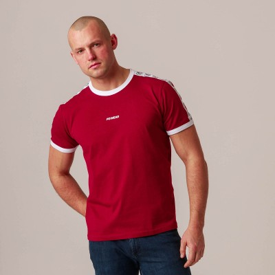 "T-shirt ""Ribbon"" Maroon"