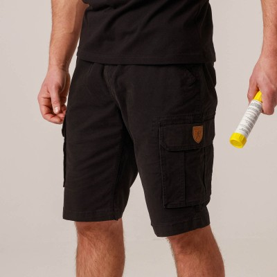"Cargo Shorts ""Squad"" Black"