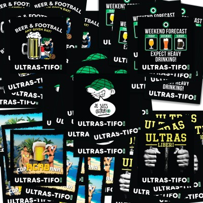 Ultras-Tifo Stickers Set Vintage