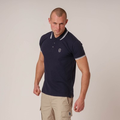 NRBSS202121 Polo NO RESPECT Basic Navy S