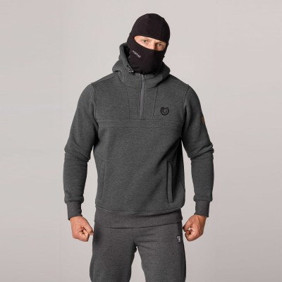 """AW21 Full Face Hoodie """"Naughty"""" Grey S"""
