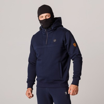"""AW21 Full Face Hoodie """"Naughty"""" Navy S"""