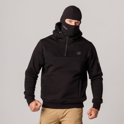 """AW21 Full Face Hoodie """"Naughty"""" Black S"""