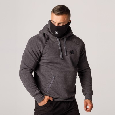 """AW21 Mask Hoodie """"Rioter"""" Grey S"""