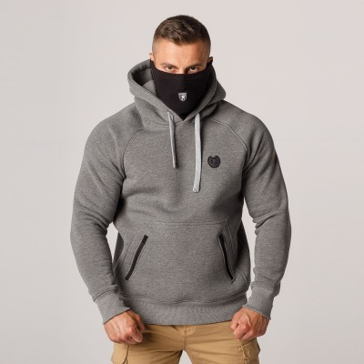 """AW21 Mask Hoodie """"Rioter"""" Light Grey S"""