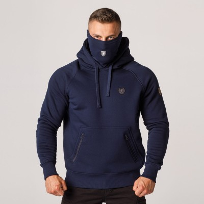 """AW21 Mask Hoodie """"Rioter"""" Navy S"""