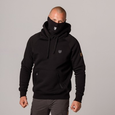 """AW21 Mask Hoodie """"Rioter"""" Black S"""