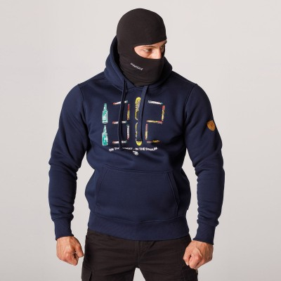 """AW21 Full Face Hoodie """"1312"""" Navy S"""