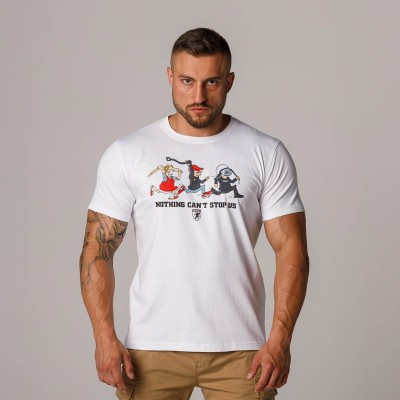 """AW21 T-shirt """"Can`t Stop Us White"""" S"""