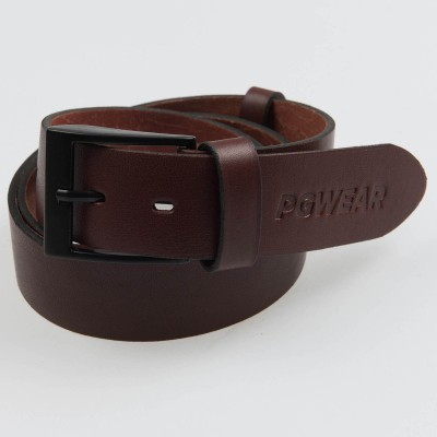 """AW21 Leather Belt """"Signature"""" Brown 115CM"""